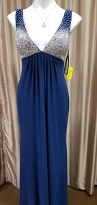 Jovani Navy Dress